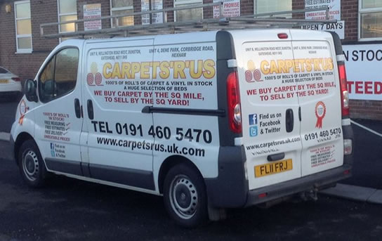 Carpets R Us free delivery in Dunston Newcastle